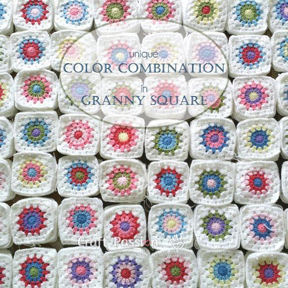 Granny Square Colors Combination | Combinación de colores, Cuadrados ...