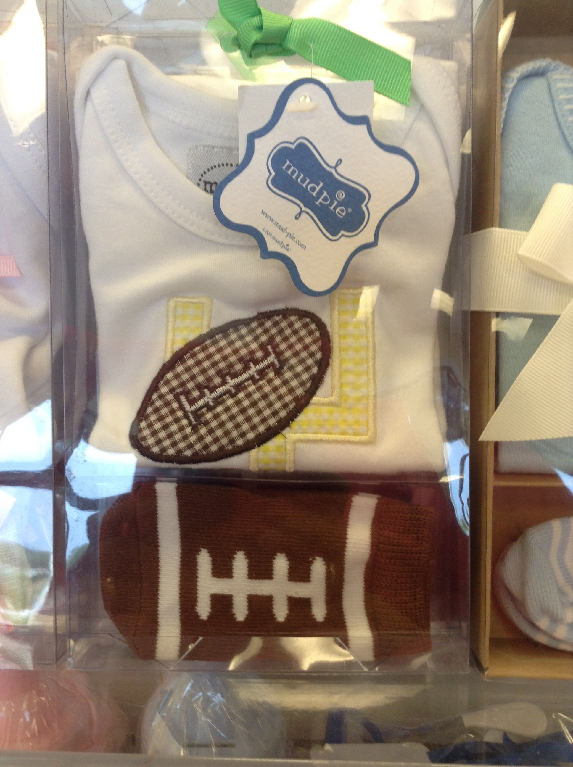 Cute little Mudpie football outfit for baby.  http://www.babylandllc.com/start.php
