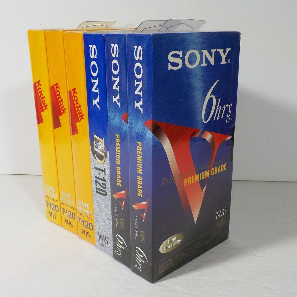 Sony Premium Grade T-120VF 6hrs Cassettes 6 Pack