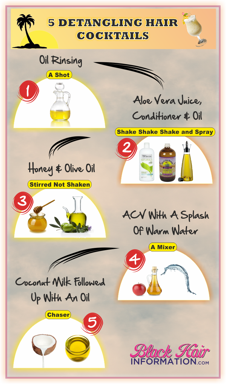 Five Detangling Cocktails To Make Wash Day A Breeze Hair Detangler Natural Hair Styles Hair Food