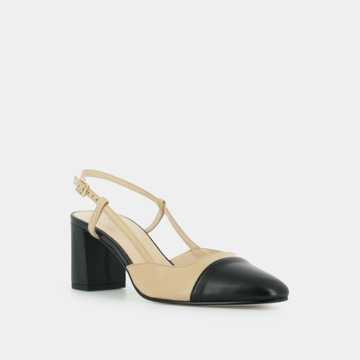 Mary Janes with ankle strap , in black suede JONAK