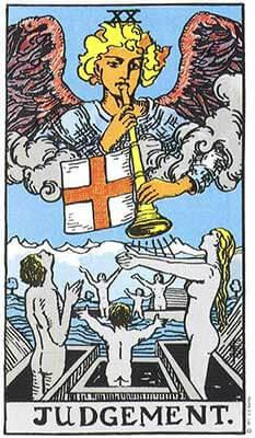 Judgement Meaning Major Arcana Tarot Card Meanings Rider Waite Tarot Decks Judgement Tarot Card Rider Waite Tarot