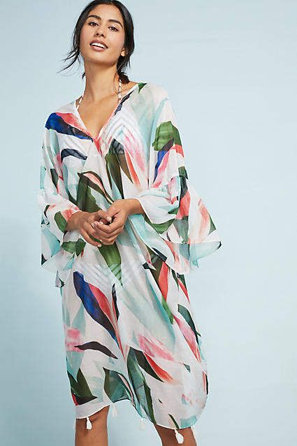 4fa8f25d886f Pool to Party Birds of Paradise Caftan | ANTHROPOLOGIE - no apology ...