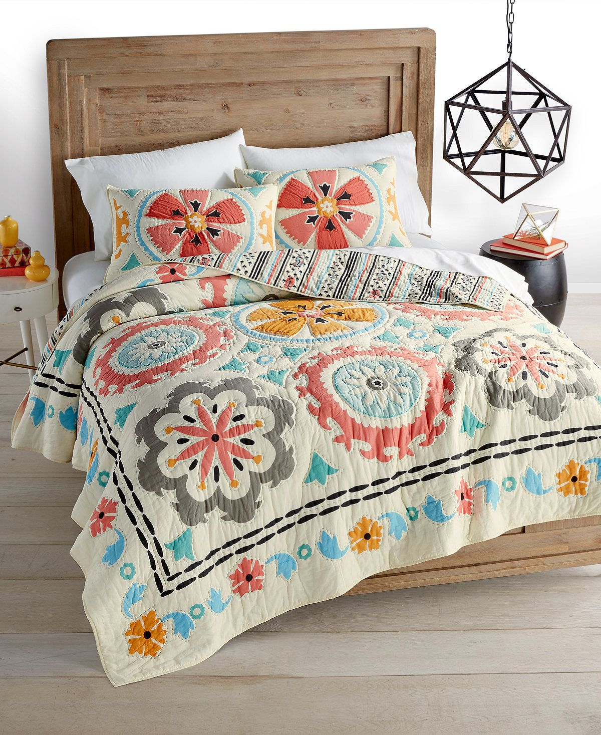 Whim By Martha Stewart Collection Desert Daisy Cotton Quilt And Sham  Collection, Created For Macyu0027s