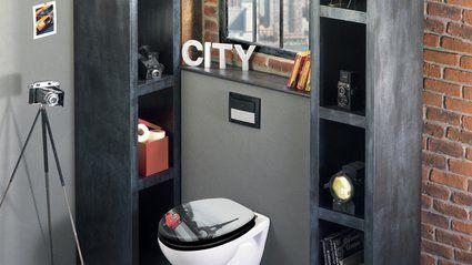Un abattant déco pour mes toilettes