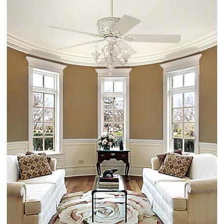 Casa Deville Candelabra Ceiling Fan With Remote Living