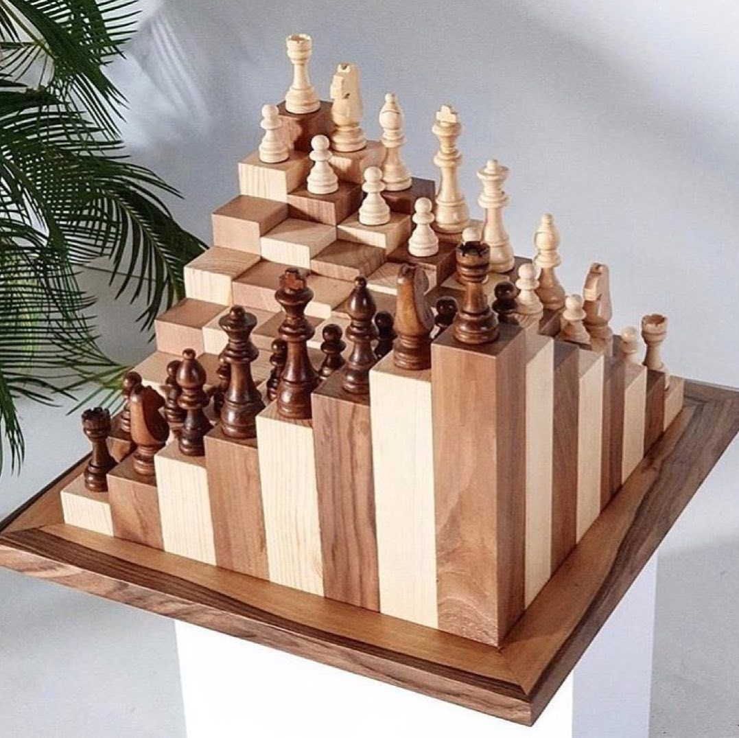 Diy Chess Board With Images Wood Chess Set Wood Chess Chess Board