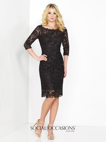 4907443cc56 Lovely lace dress...with sleeves for Mother of the Bride or Mother of the  Groom. REALLY beautiful in Pewter   Rose Quartz! Social Occasions by Mon  Cheri ...
