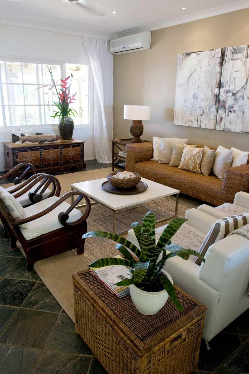 Oak Beach Cottage living room