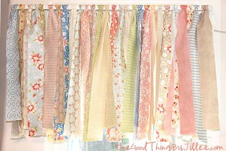 How To Make A Shabby Chic Window Valance In Minutes