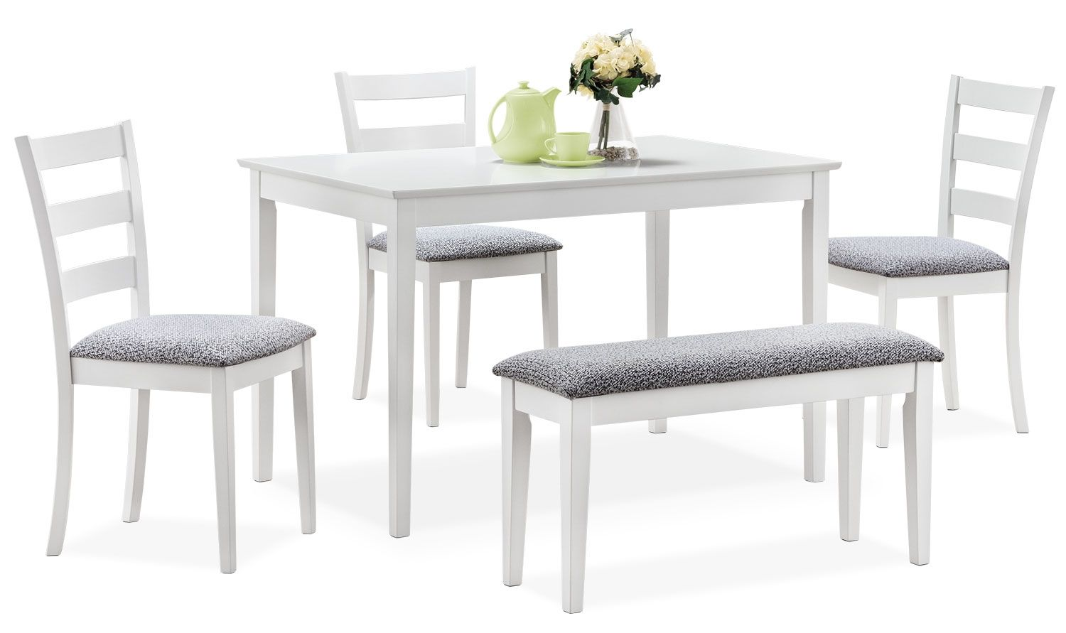 Monarch 5 Piece Dining Package White