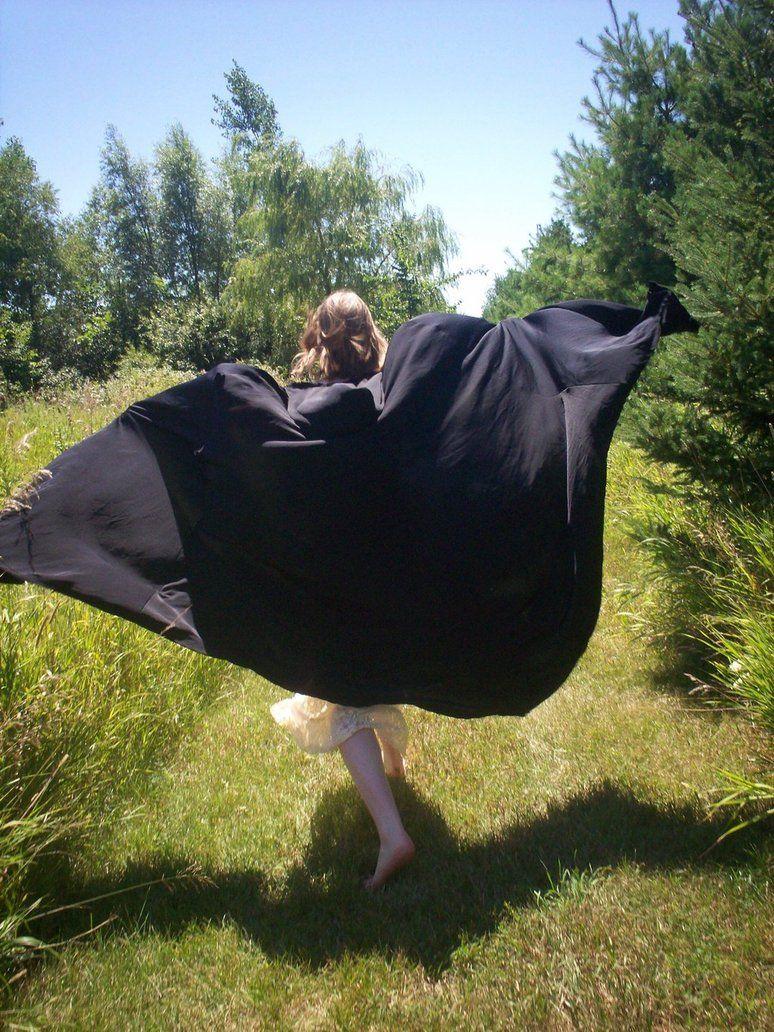 Cloak Flapping In The Wind Cloaked Women In 2019 Cloak