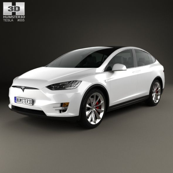 Tesla Model X 2016. Fully Editable And Reusable 3D Model