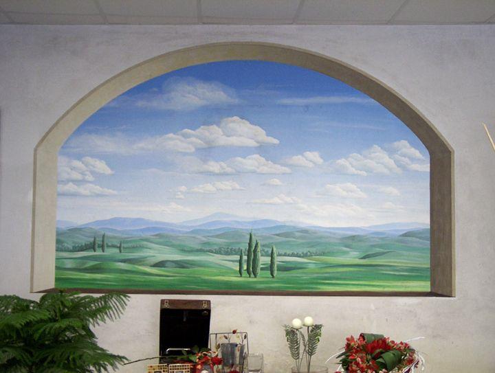 Risultati immagini per finestre dipinte sul muro - Foto di finestre ...