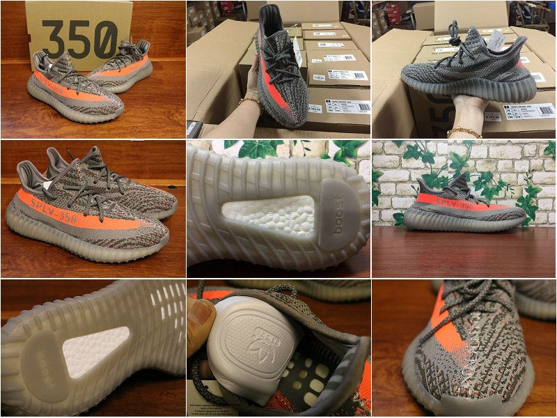 d2428bca0a19a Really Cheap adidas Yeezy Boost 350 V2 Steel Grey Beluga Solar Red BB1826  Big Size 36-48 US 13 14 2018 Online