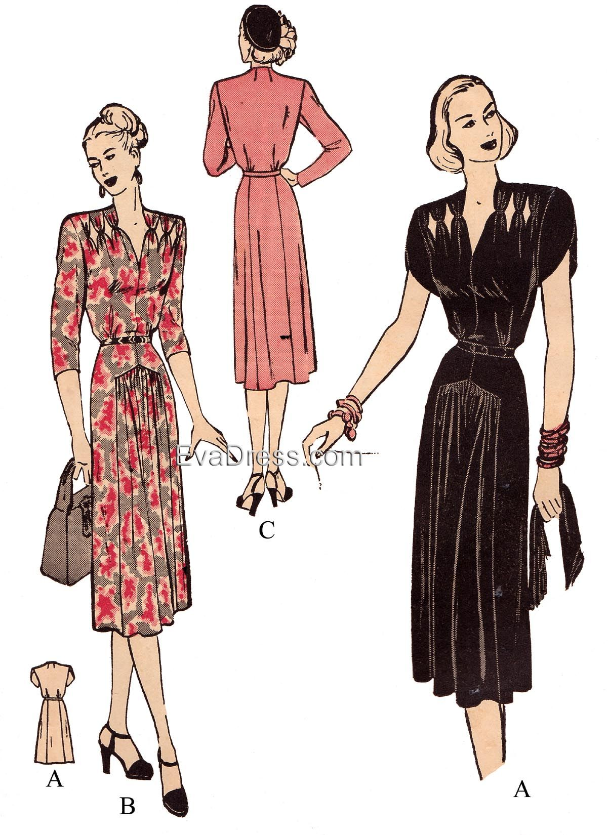1947 Dress with Cut-Outs   Home for the Holidays   Vestidos