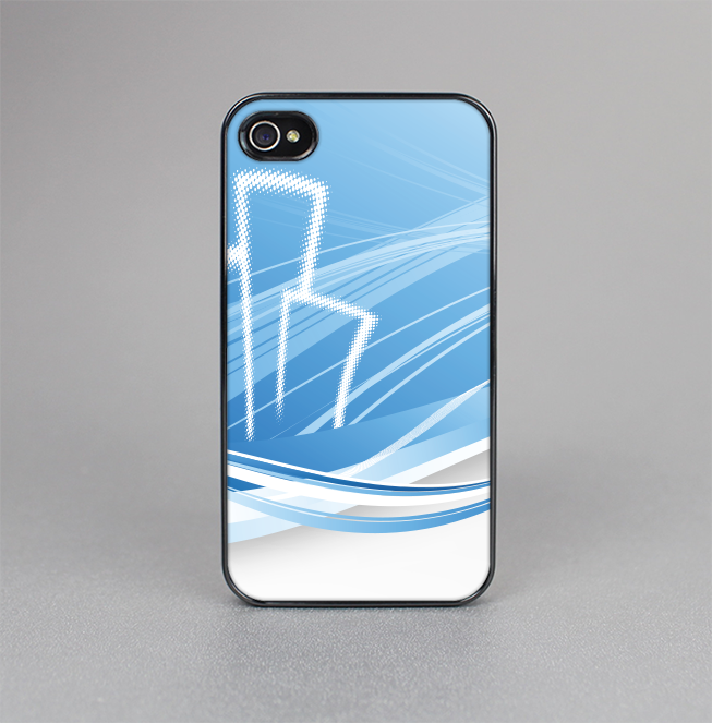 The Abstract Blue & White Future City View Skin-Sert for the Apple iPhone 4-4s Skin-Sert Case