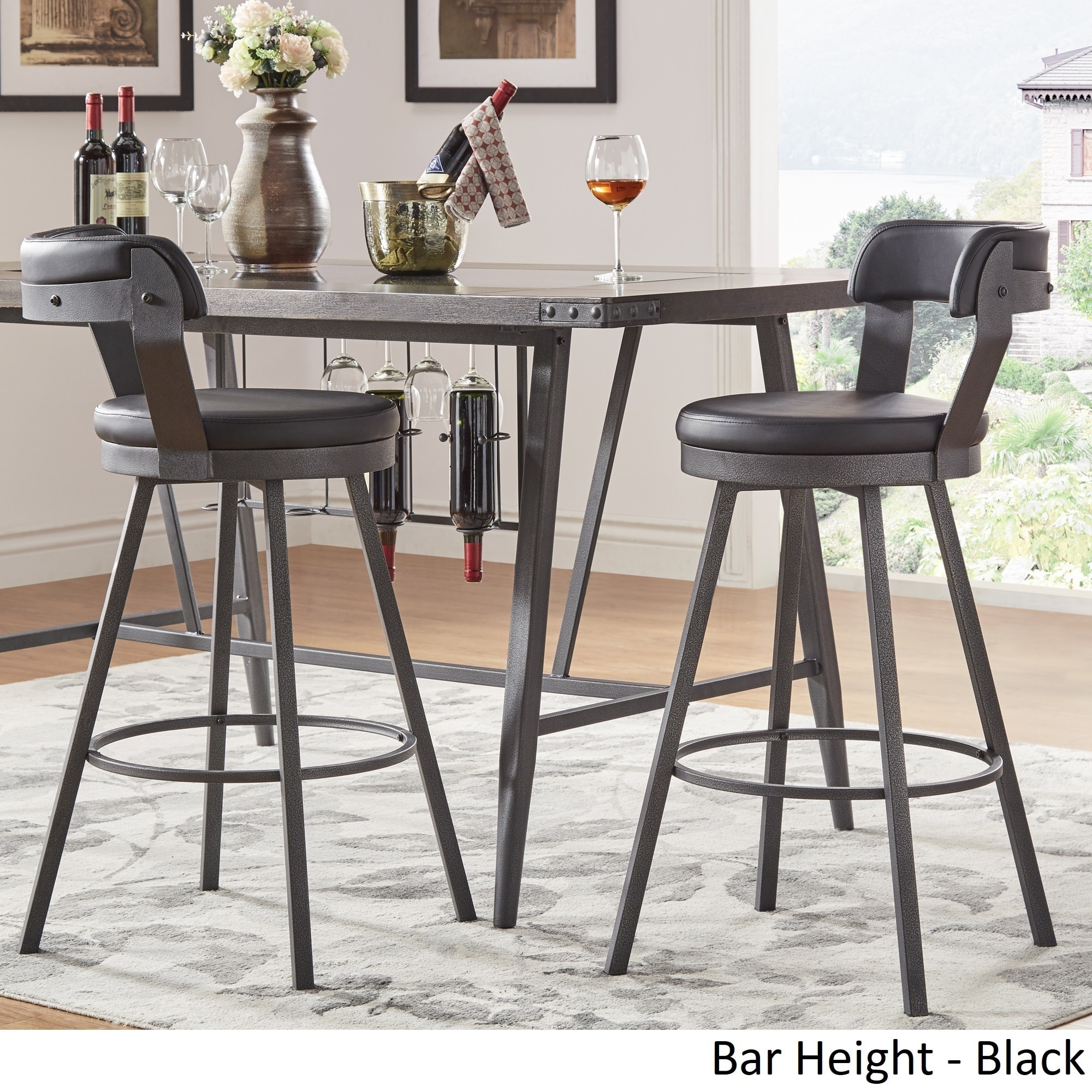 Wondrous Harley Faux Leather And Metal Swivel Stools Set Of 2 By Theyellowbook Wood Chair Design Ideas Theyellowbookinfo