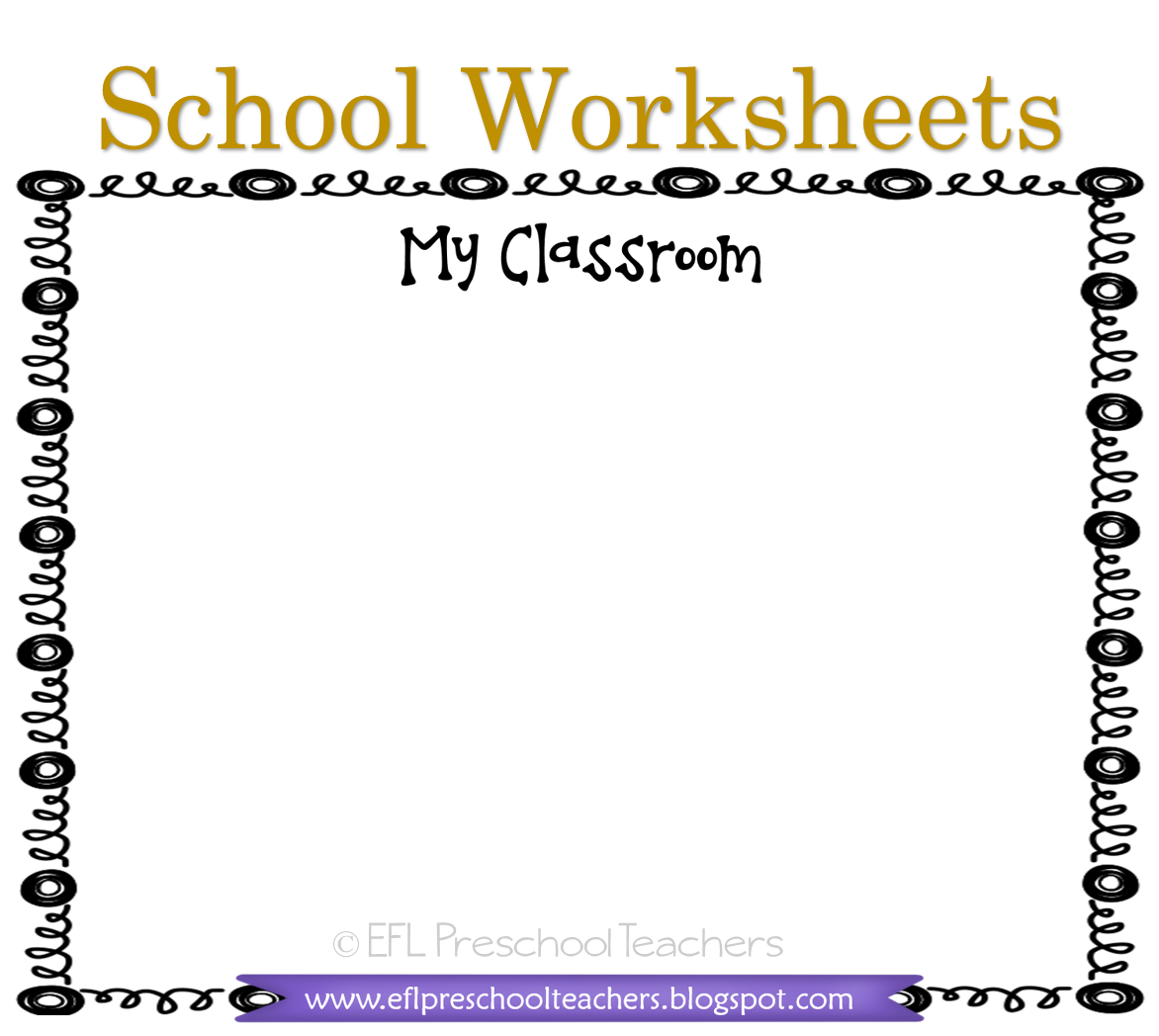 Esl School Worksheets In