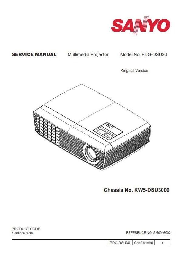 Sanyo PDG-DSU30 Projector Service Manual and Repair Guide