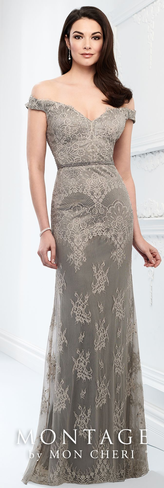 49744efa998 GRAY SIZE 10 Montage By Mon Cheri 218917 - A look that will never go out of  style