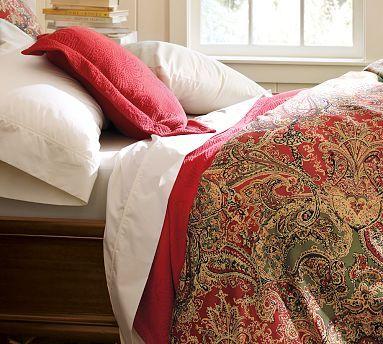 Sienna Paisley Duvet Cover Amp Sham Red Potterybarn