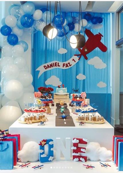 12 ideas para tu fiesta de aviones children party - Decoracion cumpleanos para ninos ...