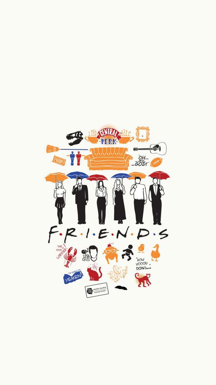 wallpaper friends series Tumblr Papel de parede