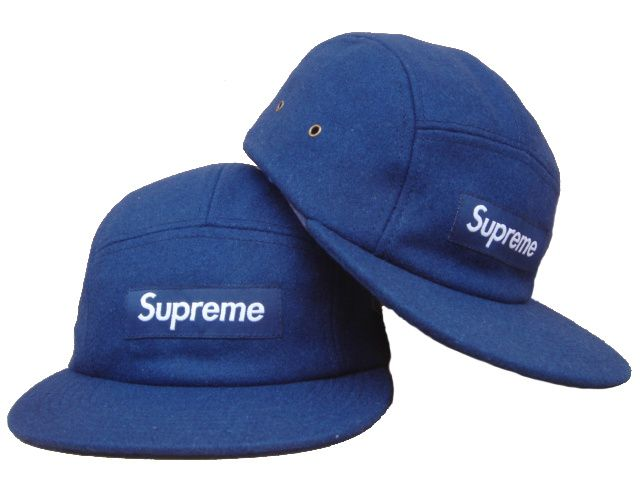 Supreme 5 Panel Camp Cap Blue  e0a10e20682