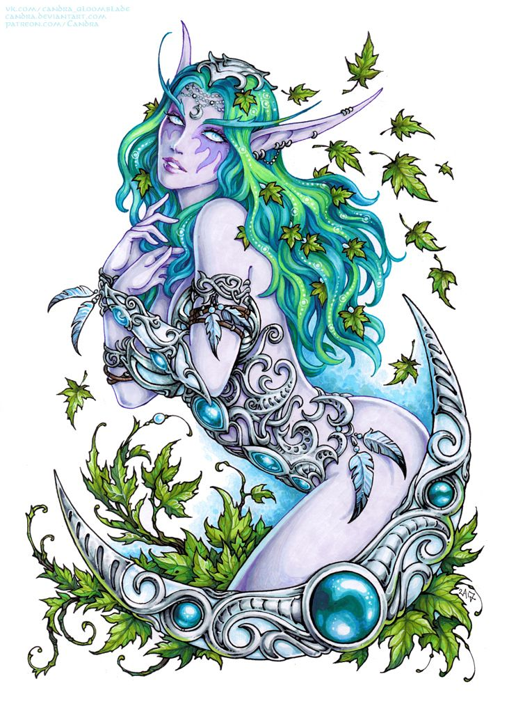 Tyrande Whisperwind Sfw Version By Candra Deviantart Com On Deviantart Warcraft Art Elf Tattoo Warcraft