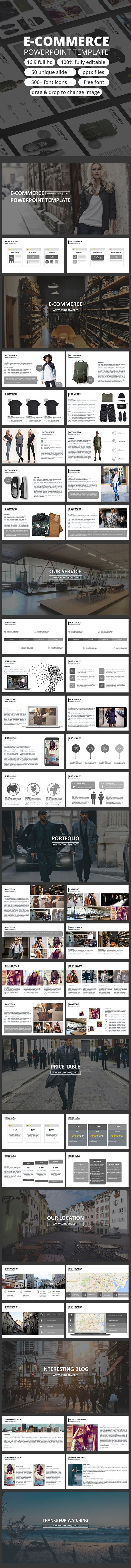 E-commerce -Powerpoint Presentation - Business PowerPoint Templates ...
