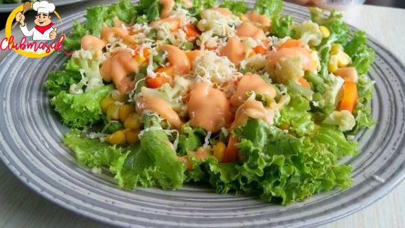 Resep Hidangan Sayur Salad Sayur Campur Salad Sayur Untuk Diet Club Masak Salad Sayur Salad Makanan Sehat