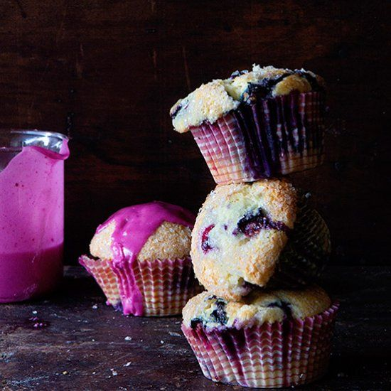 Easiest  Blueberry Muffin Recipe ~ Find out how to get the domed top each and every time!