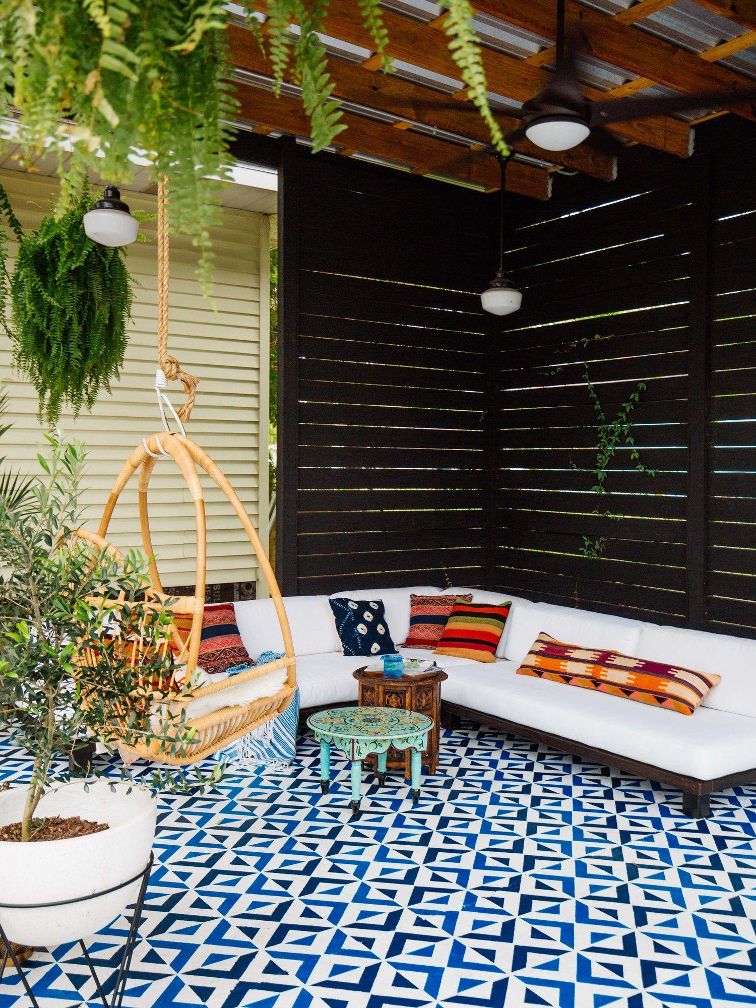 Creatieve Tuin Ideeen Patio Diy Patio Patio Painting Tile Floors