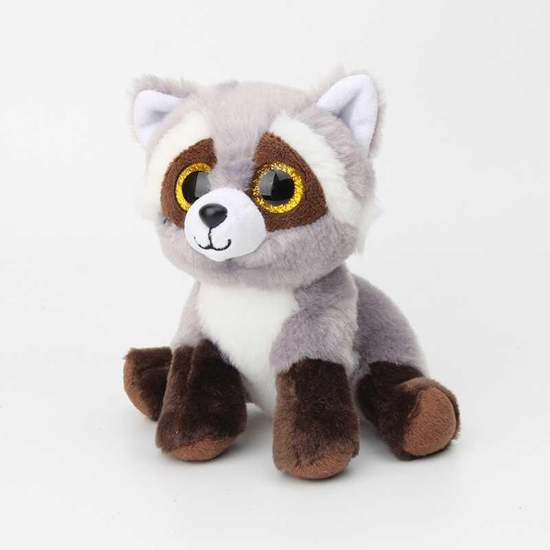 US 7 15CM New Ty Beanie Big Eyes Stuffed Animals Raccoon