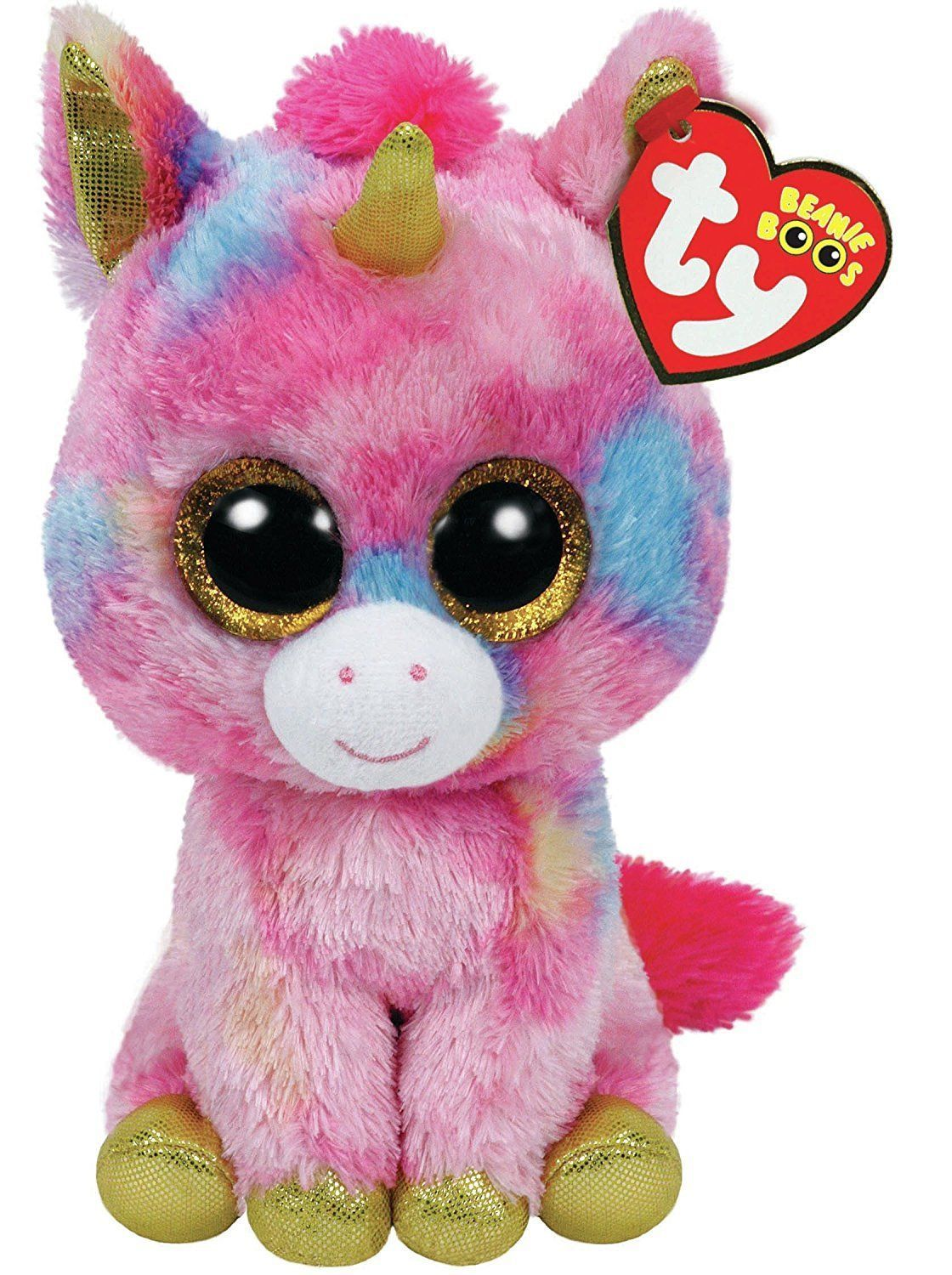 "6/"" TY Beanie Boos Glitter Eyes Pixy the Unicorn With Tag Gift Plush Stuffed Toys"