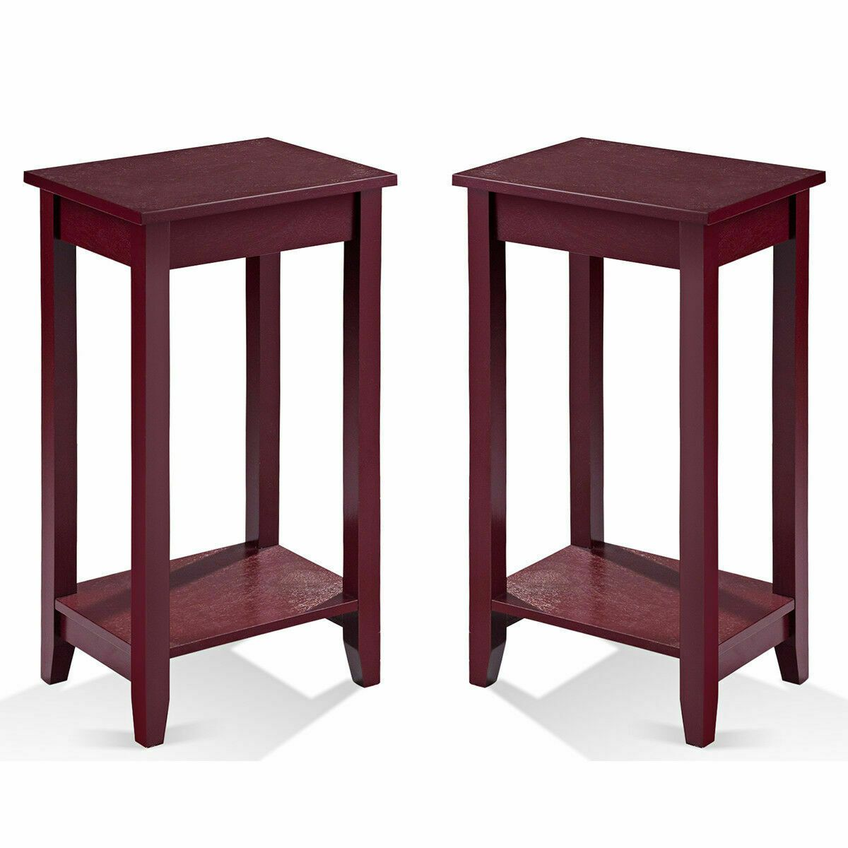 Set Of 2 Tall Nightstand End Table Coffee Stand Sofa Side Accent Furniture Sofa Table Ideas Of Sofa Furniture Prices Side Table Wood Modern Side Table Wood