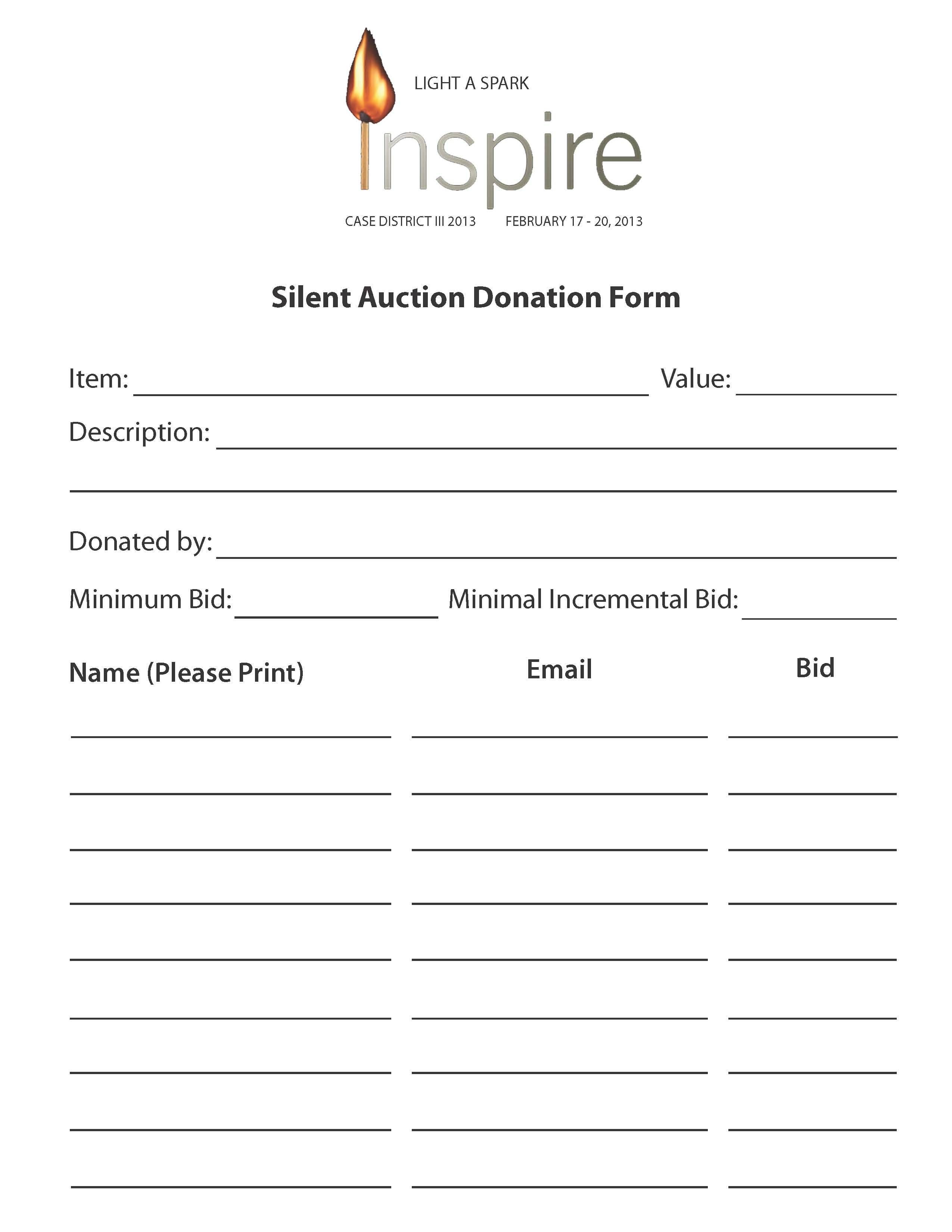 Template For Silent Auction Bid Sheet Check More At Https Sscresult2017 Bd Com Template For Silent Aucti Silent Auction Bid Sheets Silent Auction Auction Bid Silent auction donation form template