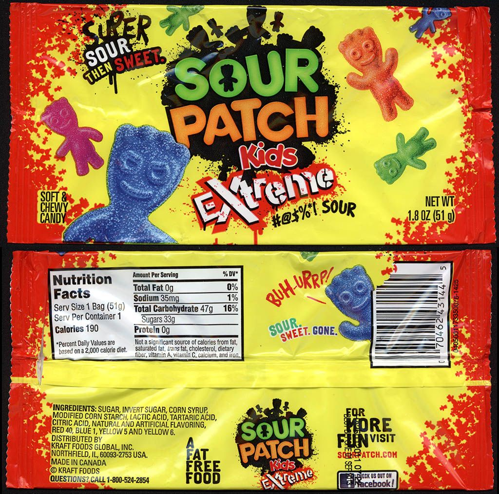 Sour Patch Kids Extreme Sour Patch Kids Sour Patch Extreme Candy