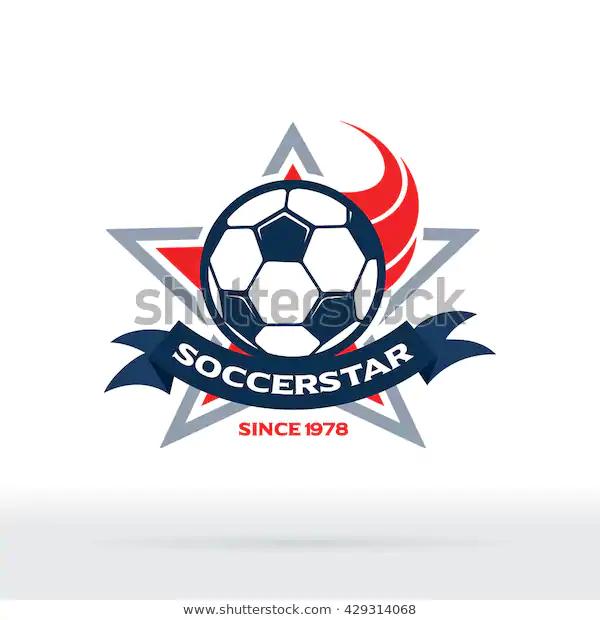 Soccer Star Badge Football Club Icon Stock Vector Royalty Free