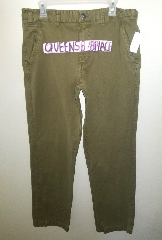 6fc4cc6314c Nwt Northwest Territory Men s size 34X30 Army green Pants 5 pocket New   NorthwestTerritory  CasualPants