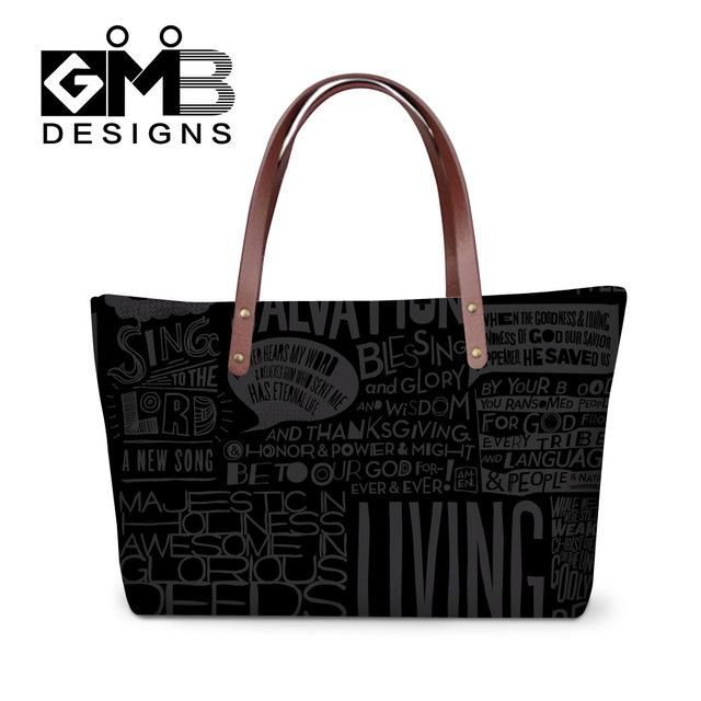 newly design note pattern women's hand bags