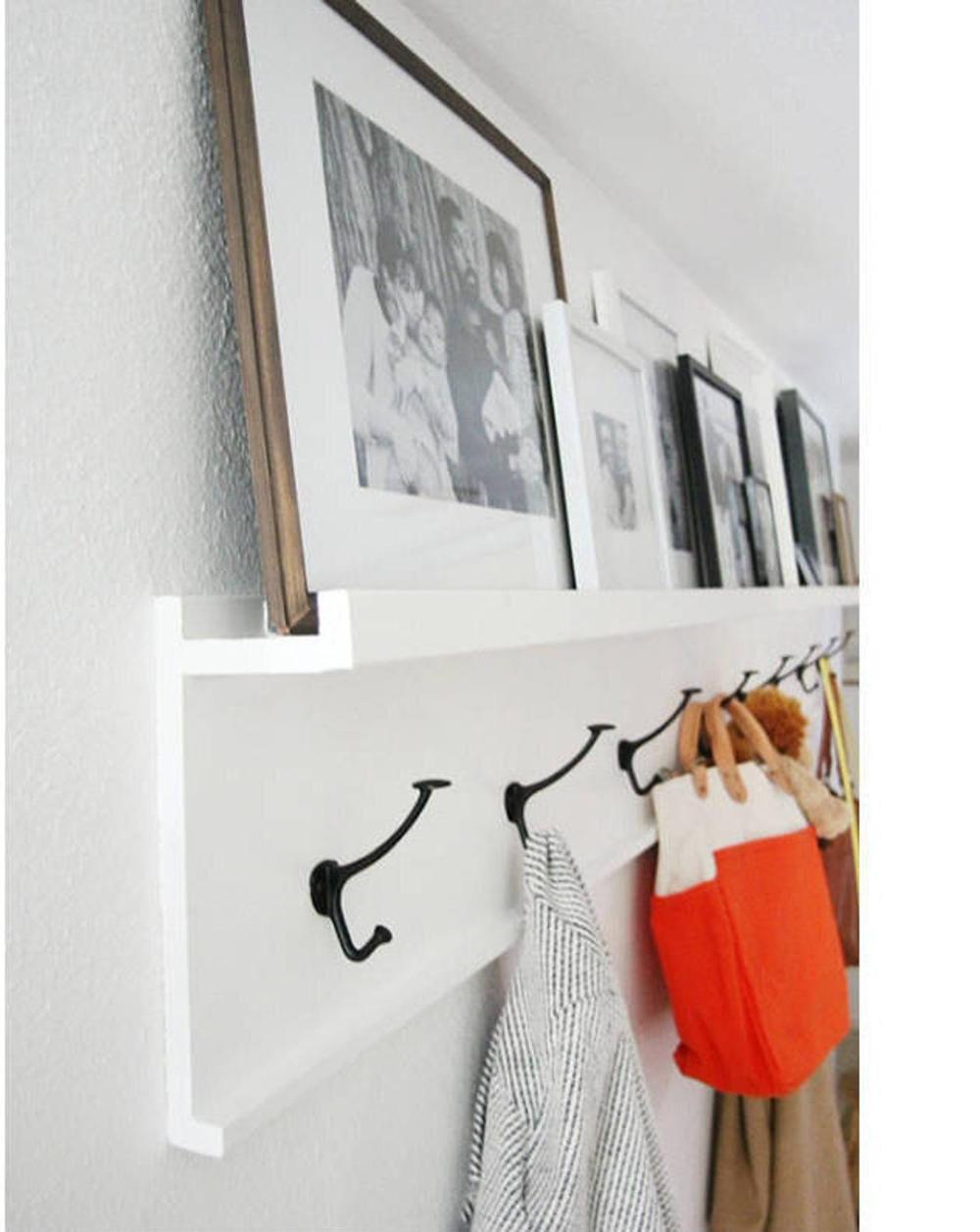 12 To 36 Inch Coat Rack Floating Shelf Coat Hook Rustic Coat Rack Wall Shelf Coat Hooks Floating Shelves Entryway Organizer Coat Rack Towel Coat Rack Wall Rustic Coat Rack Coat Rack Shelf