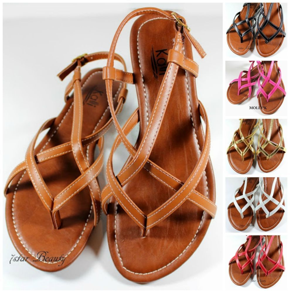 New Women Handmade Leather Bits Sandals from size 7-11