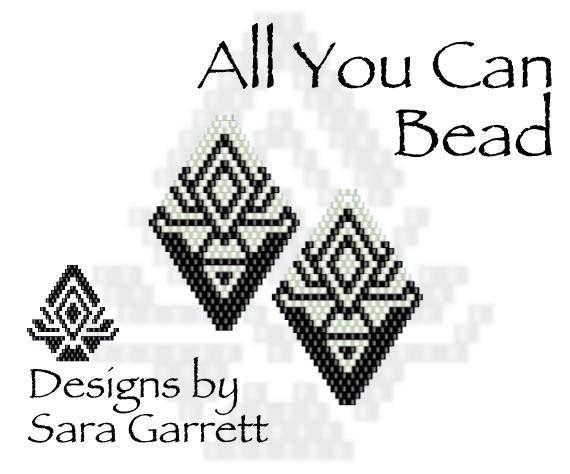 PATTERN ONLY. Create these beautiful peyote earrings