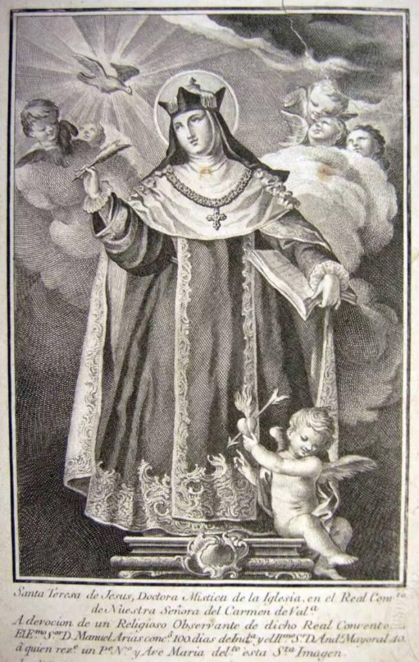 Pieter De Bailliu I Heilige Theresia Van Avila En Engel