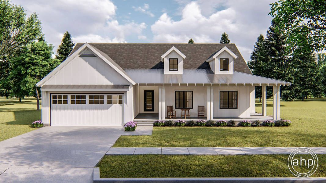 Fitzgerald 1 Story Modern Farmhouse House Plan in 2020