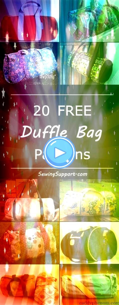 duffle duffel bag diy projects sewing patterns and tutorials Cute bags great dance or gym bags and for kids Free duffle duffel bag diy projects sewing patterns and tutori...