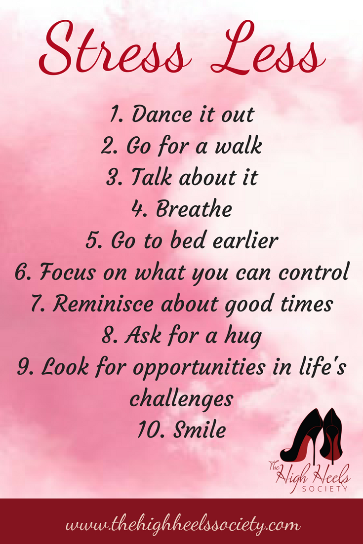 Stress Less. The High Heels society. Quotes and Memes