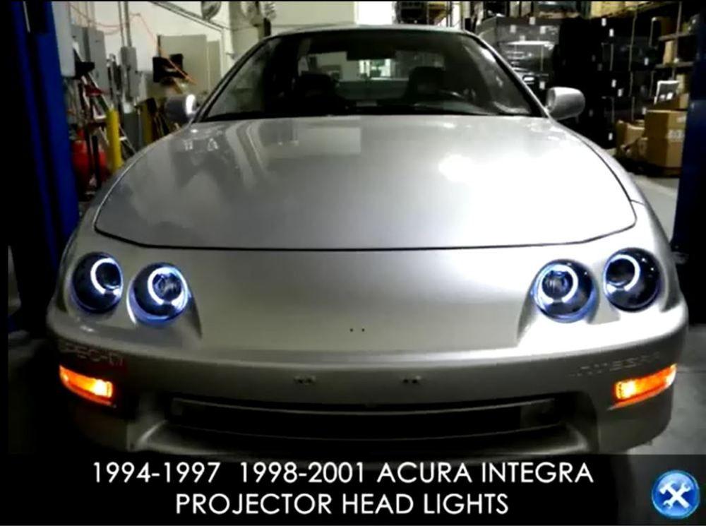 Installation Instructions 1994 2001 Acura Integra Projector Headlights Acura Integra Acura Honda Type R